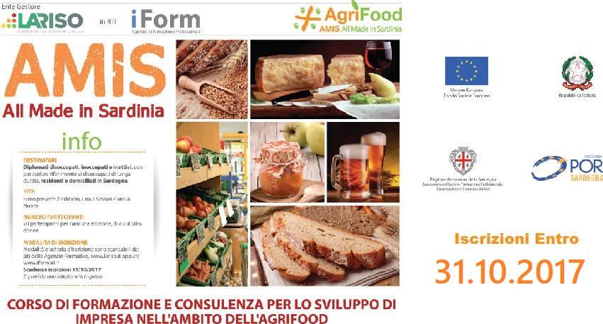 """Corso """"AMIS All Made in Sardinia""""   Sede di Nuoro  09/11/2017  PUBBLICATE LE GRADUATORIE  Scarica la graduatoria amis nuoro"""