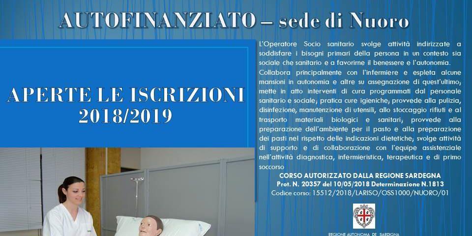 Aperte iscrizioni corso OSS (operatore socio sanitario) 2018 / 2019 Sardegna presso sede Lariso
